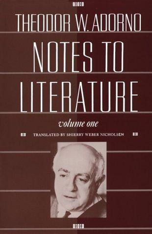Notes to Literature, Volume 1 (Paperback, 1991, Columbia University Press)