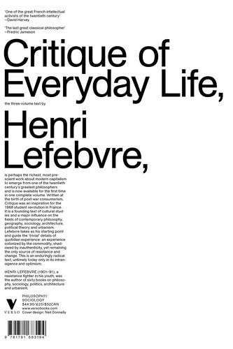 Critique of Everyday Life (1991, Verso Books)