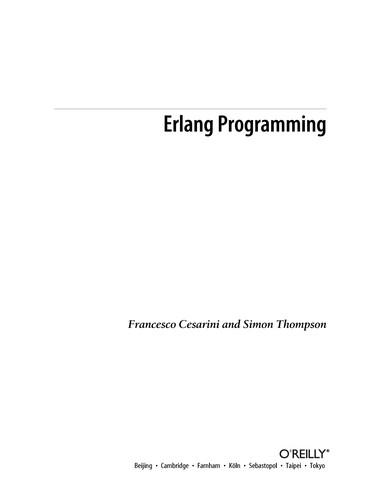 Erlang programming (2009, O'Reilly)