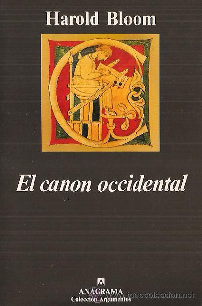El Canon Occidental (Spanish language, 1996, Anagrama)