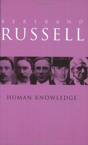 Human knowledge (1992, Routledge)