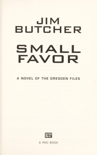 Small Favor (Hardcover, 2008, Roc Hardcover)
