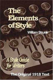 The Elements of Style (2005, Paramount Publishing)