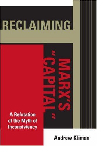 """Reclaiming Marx's """"Capital"""" (2006, Lexington Books)"""