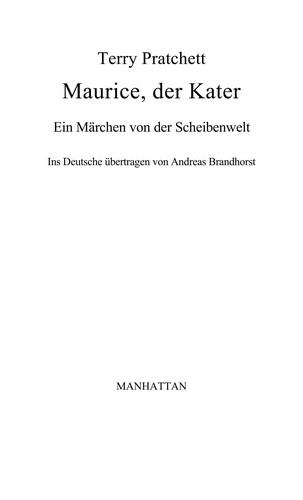 Maurice, der Kater (German language, 2005, Goldmann)