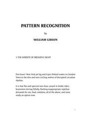 Pattern recognition (2005, Berkley Books)