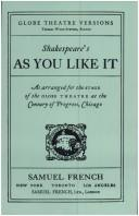 As You Like It (Globe Theatre Versions) (Paperback, 1934, Samuel French, Inc.)