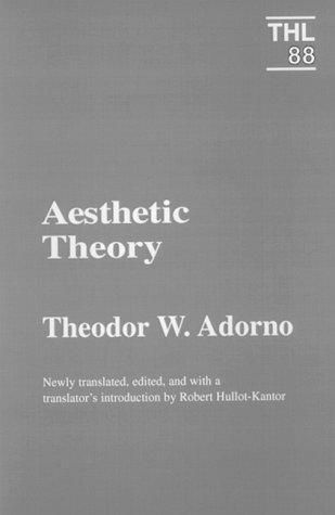Aesthetic Theory (Paperback, 1998, University of Minnesota Press)
