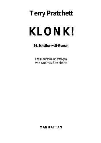 Klonk! (German language, 2008, Goldmann)