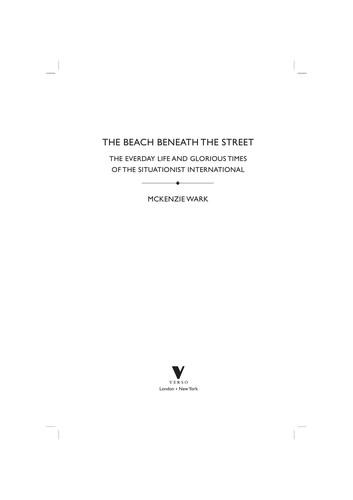 The beach beneath the street (2011, Verso)
