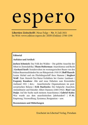 espero 3 (German language, 2021, Libertad Verlag)